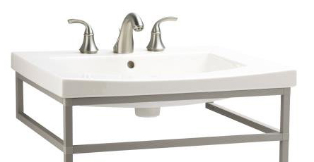 Kohler K-2956-8-47 Persuade Curv Lavatory Console Sink with 8