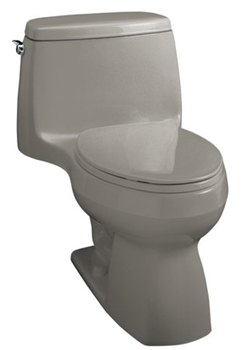 Kohler K-3323-K4 Santa Rosa Compact Elongated Toilet With Seat, Cover and Left-Hand Trip Lever - Cashmere