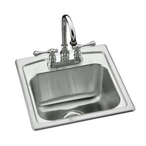 Kohler K 3349 2 Na Toccata Self Rimming Bar Sink Stainless Steel Faucetdepot Com
