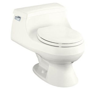 Kohler K-3386-0 Rialto One-piece Round-Front Toilet With Seat And Left-Hand Trip Lever - White