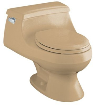 Kohler K-3386-33 Rialto One-piece Round-Front Toilet With Seat And Left-Hand Trip Lever - Mexican Sand
