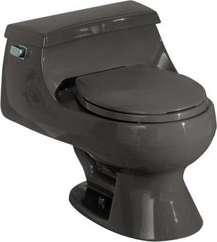 Kohler K-3386-58 Rialto One-piece Round-Front Toilet - Thunder Grey