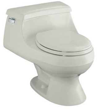Kohler K-3386-95 Rialto One-piece Round-Front Toilet - Ice Grey
