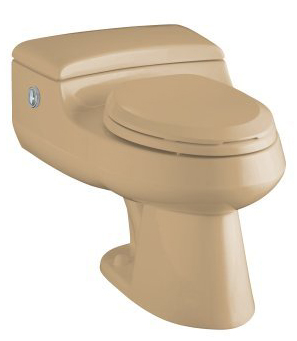 Kohler K-3393-33 San Raphael Comfort Height Elongated One-Piece Toilet with Power Lite Flushing Technology - Mexican Sand