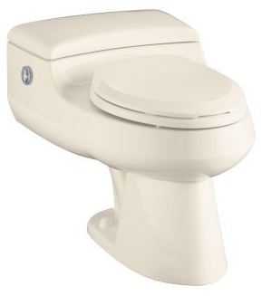 Kohler K-3393-47 San Raphael Comfort Height Elongated One-Piece Toilet with Power Lite Flushing Technology - Almond