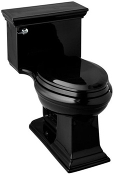 Kohler K-3453-7 Memoirs Comfort Height Toilet With Stately Design - Black