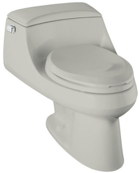 Kohler K-3466-95 San Raphael Elongated Toilet with Concealed Trapway - Ice Grey