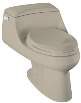 Kohler K-3466-G9 San Raphael Elongated Toilet with Concealed Trapway - Sandbar