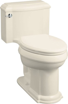 Kohler K-3488-7 Devonshire Comfort-Height Toilet - Black (Pictured in Almond)