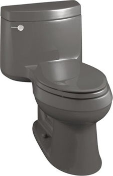 Kohler K-3489-58 Cimarron Comfort Height Elongated One Piece Toilet - Thunder Grey