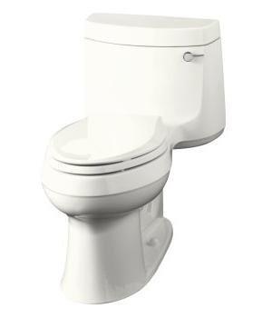 Kohler K-3489-RA-0 Cimarron Comfort Height Toilet- Right Hand Trip Lever - White