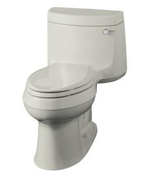Kohler K-3489-RA-95 Cimarron Comfort Height Toilet- Right Hand Trip Lever - Ice Grey
