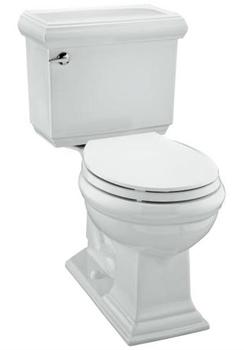 Kohler K-3532-0 Memoirs Comfort Height Round Front Toilet With Insuliner Tank Liner Classic Design - White