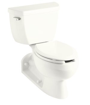 Kohler K-3554-7 Barrington Two Piece Elongated Toilet Bowl - Black (Pictured in White)
