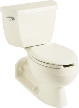 Kohler K-3554-T-0 Barrington Two Piece Elongated Toilet - White