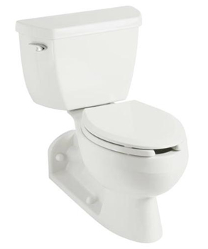 Kohler K-3652-0 Barrington Pressure Lite 1.0 GPF Toilet - White