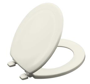 Kohler K-4648-96 Stonewood Round Toilet Seat - Biscuit