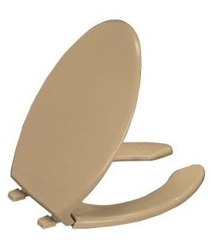 Kohler K 4650 33 Lustra Solid Plastic Open Front Toilet Seat Mexican Sand