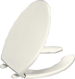 Kohler K-4650-96 Lustra Solid Plastic Open-Front Toilet Seat - Biscuit