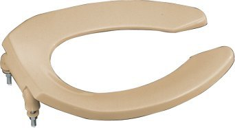 Kohler K-4670-C-33 Lustra Elongated Open Front Toilet Seat - Mexican Sand