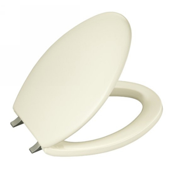 Kohler K-4685-BN-96 Bancroft Toilet Seat With Brushed Nickel Hinges - Biscuit