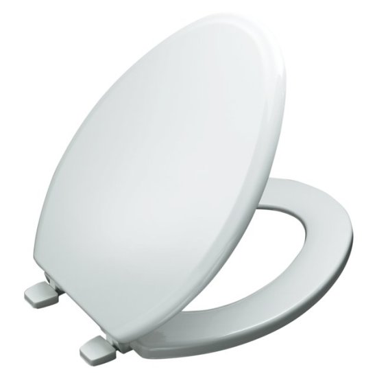 Kohler K-4694-47 Ridgewood Elongated Toilet Seat - Almond (Pictured in White)