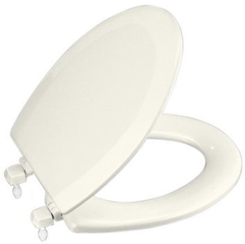 Kohler K-4712-T-96 Triko Elongated Toilet Seat - Biscuit