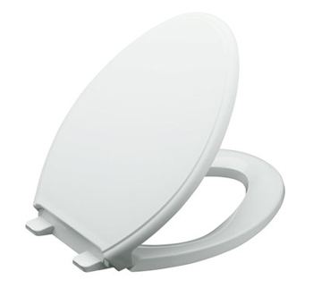 Kohler K-4733-0 Glenbury Quiet-Close Elongated Toilet Seat - White