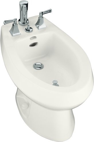 Kohler K-4854-0 San Tropez Bidet With Vertical Spray - White