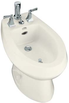 Kohler K-4854-96 San Tropez Bidet With Vertical Spray - Biscuit