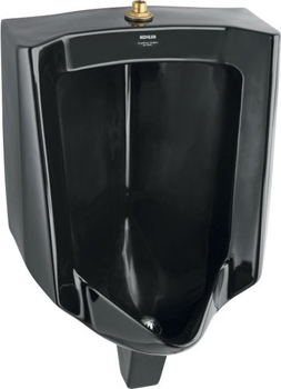 Kohler K-4960-ET-7 Bardon Urinal With Top Spud - Black