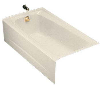 Kohler K-505-47 Mendota 5' Bath With Left-Hand Drain - Almond