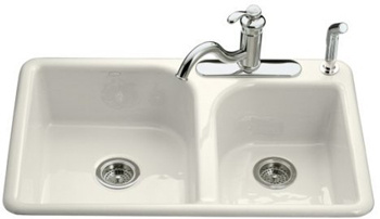 Kohler K 5948 3 96 Efficiency Double Basin Cast Iron