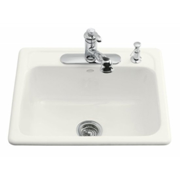 Kohler K-5964-3-0 Mayfield Self-Rimming Kitchen Sink - White (Faucet and Accessories Not Included)