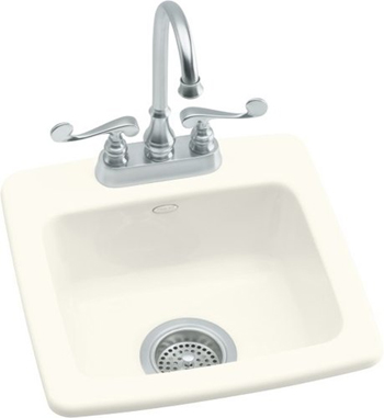 Kohler K-6015-2-96 Gimlet Single Basin Acrylic Bar Sink - Biscuit (Faucet Not Included)