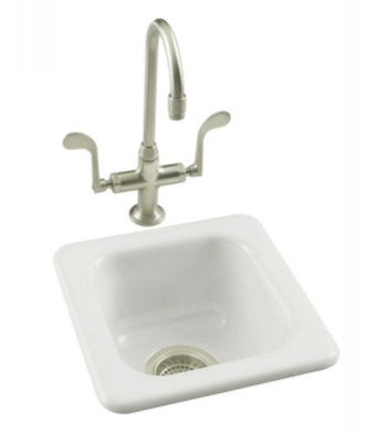 Kohler K-6552-0 Addison Self-Rimming Entertainment Sink - White