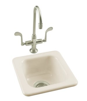 Kohler K-6552-96 Addison Self-Rimming Entertainment Sink - Biscuit