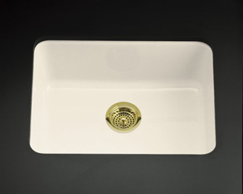 Kohler K-6585-47 Iron/Tones Self-Rimming/Undercounter Kitchen SInk - Almond