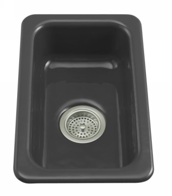 Kohler K-6586-7 Iron/Tones Self-Rimming/Undercounter Kitchen Sink - Black