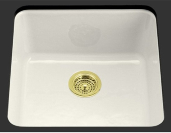 Kohler K-6587-0 Iron/Tones Self-Rimming/Undercounter Kitchen Sink - White
