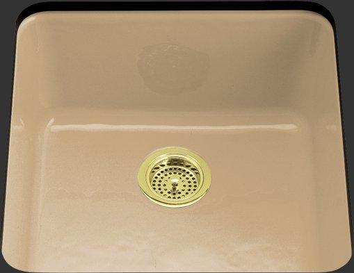 Kohler K-6587-33 Iron/Tones Self-Rimming/Undercounter Kitchen Sink - Mexican Sand