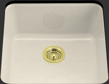 Kohler K-6587-47 Iron/Tones Self-Rimming/Undercounter Kitchen Sink - Almond