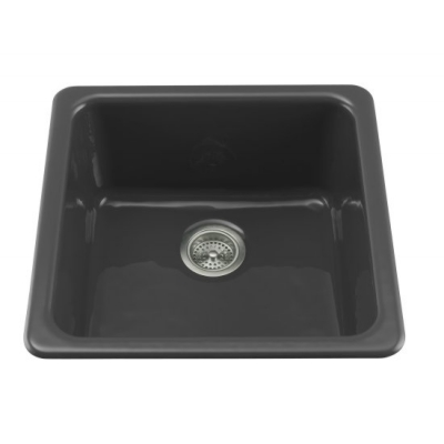 Kohler K-6587-7 Iron/Tones Self-Rimming/Undercounter Kitchen Sink - Black