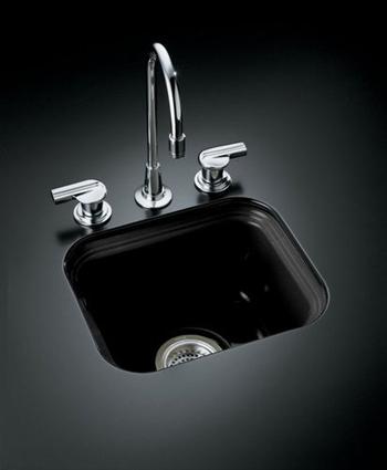 Kohler Black Faucet : Kohler Northland Undercounter Entertainment Sink - Black (Faucet ...