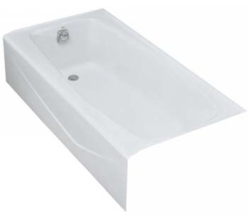 Kohler K-715-0 Villager Bath With Left-Hand Drain - White