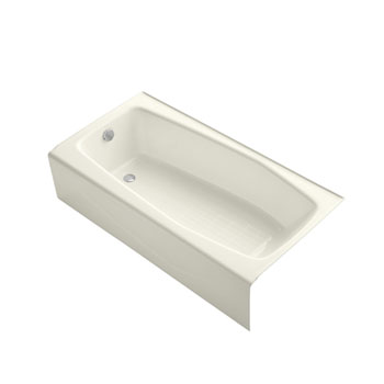Kohler K-715-96 Villager Bath With Left-Hand Drain - Biscuit