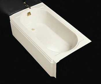 Kohler K-721-0 Memoirs 5' Bath With Left-Hand Drain - White (Pictured w/Tub Spout, Not Included)