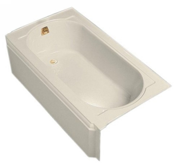 Kohler K-721-47 Memoirs 5' Bath With Left-Hand Drain - Almond