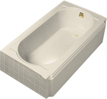 Kohler K-722-47 Memoirs 5' Bath With Right-Hand Drain - Almond