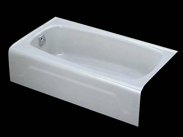 Kohler K 745 0 Seaforth Bath With Left Hand Drain   White